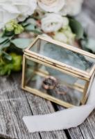 Ringkästchen gold, personalisiert mit Gravur