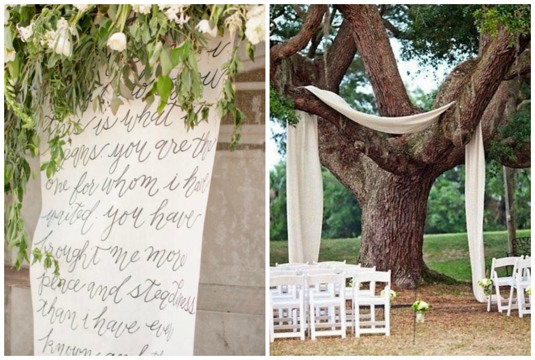 Hochzeitstrends 2018 - freie Trauungen mit personalisierten Backdrops