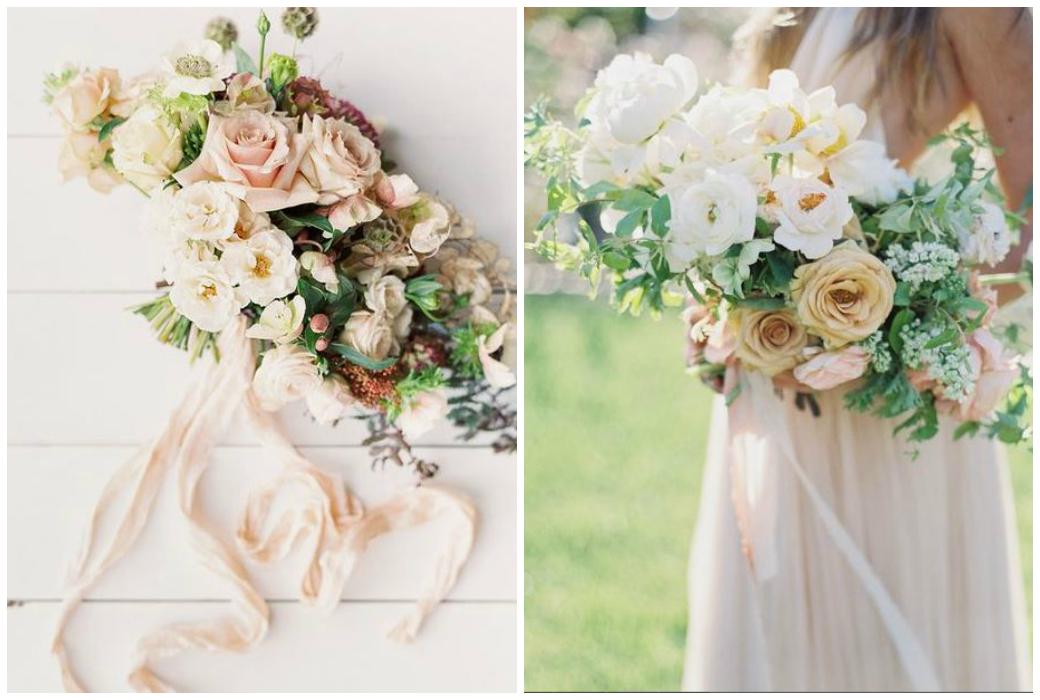 Hochzeitstrends 2018 - Brautstrauß mit Seidenbändern