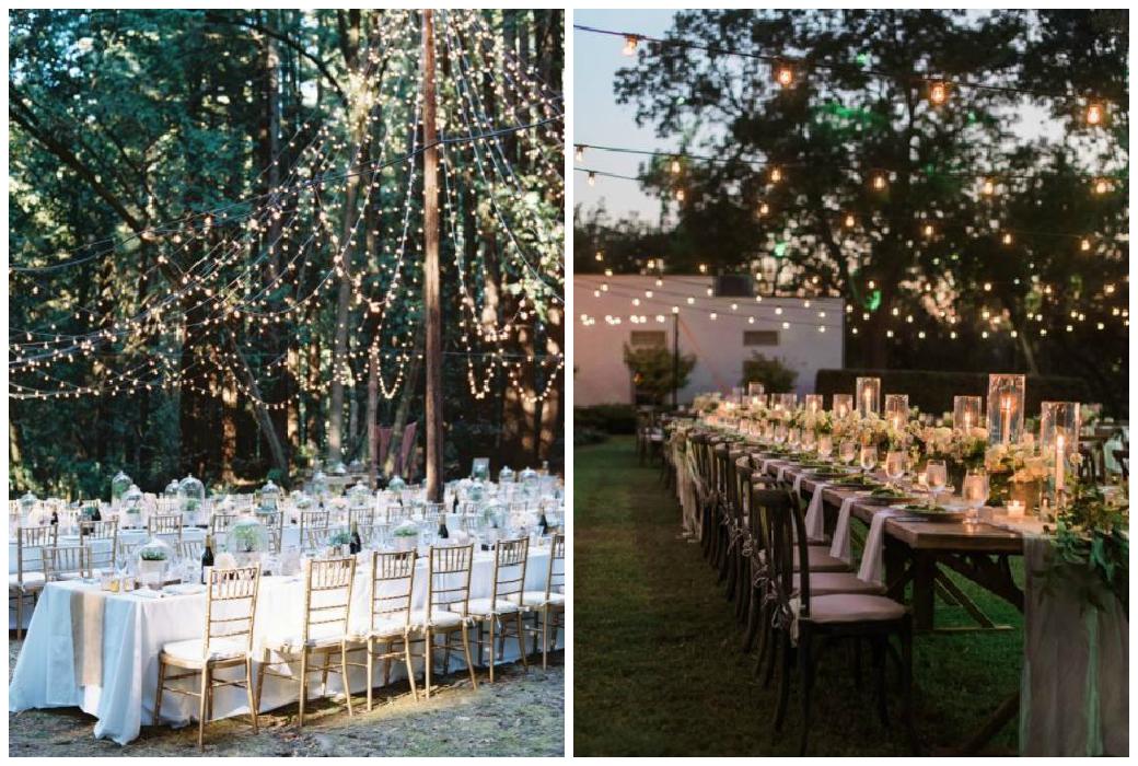 Hochzeitsdekoration 2018 - Dekoration mit Licht
