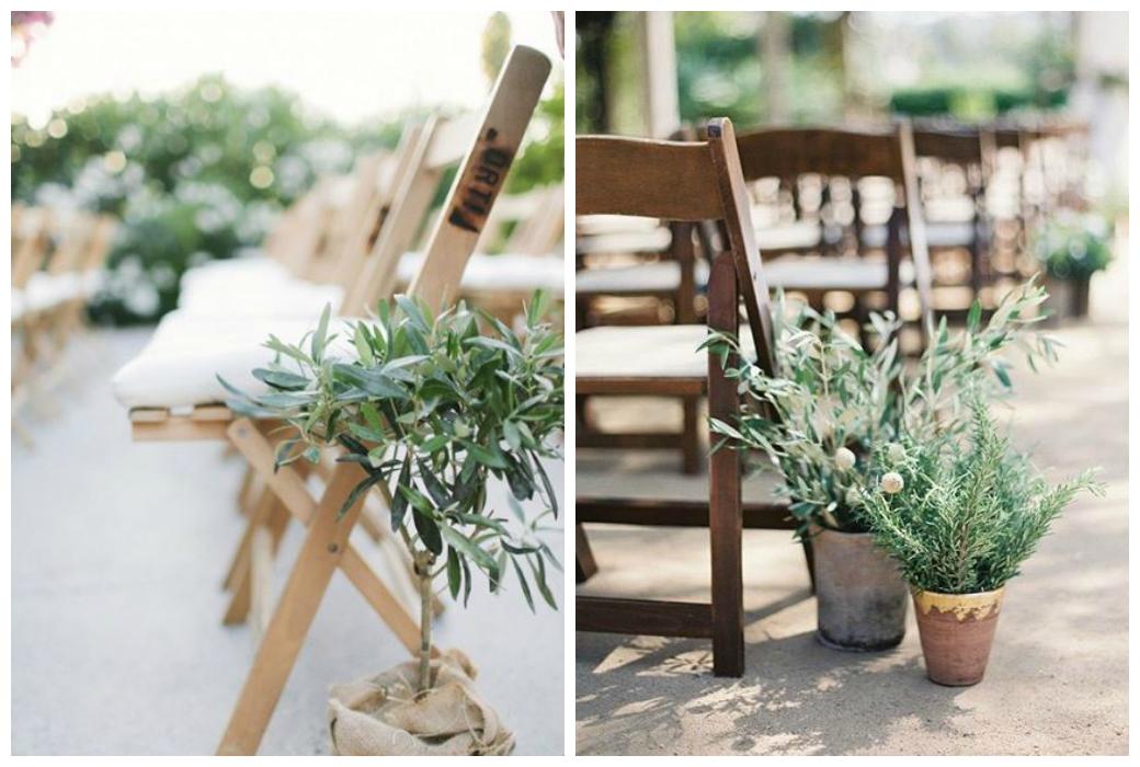 Hochzeitstrends 2018 - Pflanzen im Topf zieren den Weg zum Altar und sind eine achtsame Alternative zu Schnittblumen